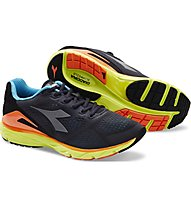 Diadora Mythos Blushield 2 - scarpe running neutre - uomo, Black/Yellow