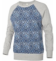Dimensione Danza All-over Tile Fleece felpa donna, Melange/Twilight Blue