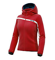 DKB Urania Damen-Skijacke/Softshelljacke, Red/White