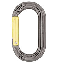 DMM PerfectO Straight Gate - moschettone ovale, Grey/Yellow