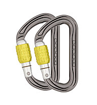 DMM Phantom Screwgate 2 Pack - Karabiner Set, Titanium/Yellow
