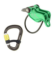DMM Pivot + Phantom HMS Belay and Captive8 Pack - Set Sicherungsgerät/Karabiner, Green
