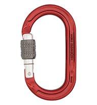 DMM Ultra O Screwgate - moschettone ovale, Red