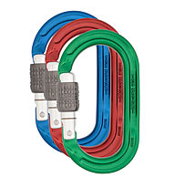 DMM Ultra O Screwgate Colour 3 Pack - Karabiner Set, Blue/Red/Green