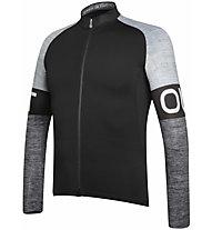 Dotout Block - maglia bici a maniche lunghe - uomo, Black/Grey
