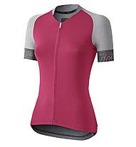 Dotout Crew - maglia bici - donna, Pink/Grey