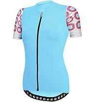 Dotout Dots - maglia bici - donna, Light Blue/Pink