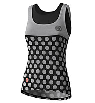Dotout Dots - top bici - donna, Grey/Black