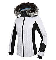 Dotout Evo W Damen-Skijacke, White/Melange Dark Grey