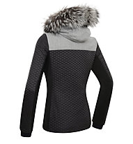 Dotout Evo W Damen-Skijacke, Black/Melange Light Grey