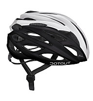Dotout Casco bici Han, Matt Black/Shiny White