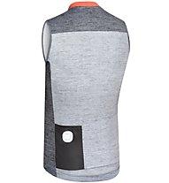 Dotout Horizon - maglia bici senza maniche - uomo, Dark Grey/Orange