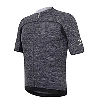 Dotout Race Wool.1 Jersey FZ Radtrikot, Melange Light Grey/Black