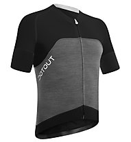 Dotout Race Wool Jersey FZ - Maglia Ciclismo, Melange Light Grey/Black