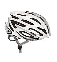 Dotout Shoy Rennrad-Fahrradhelm, Shiny White/Shiny Silver