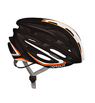 Dotout Casco bici Shoy, Shiny Black/Shiny Orange