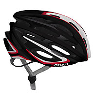 Dotout Shoy Rennrad-Fahrradhelm, Shiny Black/Shiny Red
