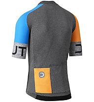 Dotout Spin - maglia bici - uomo, Dark Grey/Orange/Blue