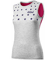 Dotout Stars W Muscle - top bici - donna, Grey/Pink
