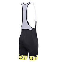 Dotout Stripe Bibshort Träger-Radhose, Black/Yellow