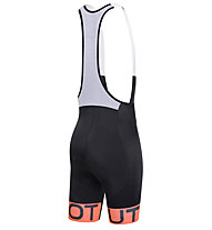Dotout Stripe Bibshort Träger-Radhose, Black/Orange