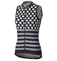 Dotout Up W Sleeveless Jersey - maglia bici - donna, Black/White/Grey