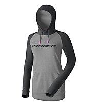 Dynafit 24/7 Logo - Kapuzenpullover - Damen, Grey/Dark Grey