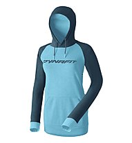 Dynafit 24/7 Logo - Kapuzenpullover - Damen, Light Blue/Dark Blue