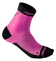 Dynafit Alpine - kurze Socken Trailrunning - Herren, Pink/Black