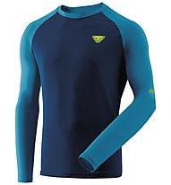 Dynafit Alpine Pro - maglia a manica lunga - uomo, Blue/Light Blue/Yellow
