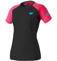 Dynafit Alpine Pro - T-shirt trail running - donna, Black/Pink