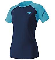 Dynafit Alpine Pro - Trailrunningshirt Kurzarm - Damen, Dark Blue/Light Blue