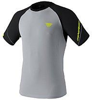 Dynafit Alpine Pro - T-shirt trail running - uomo, Grey/Black/Yellow