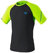 Dynafit Alpine Pro - T-shirt trail running - uomo, Black/Green/Light Blue