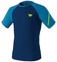 Dynafit Alpine Pro - T-shirt trail running - uomo, Blue/Light Blue/Yellow