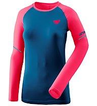Dynafit Alpine Pro - Langarmshirt Trailrunning - Damen, Dark Blue/Pink