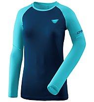 Dynafit Alpine Pro - Langarmshirt Trailrunning - Damen, Blue/Light Blue
