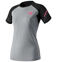 Dynafit Alpine Pro - Trailrunningshirt Kurzarm - Damen, Grey/Black/Pink