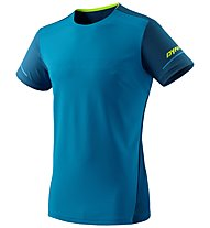 Dynafit Alpine - maglia trail running - uomo, Light Blue/Blue/Yellow