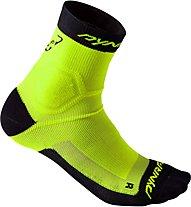 Dynafit Alpine - kurze Socken Trailrunning - Herren, Yellow/Black