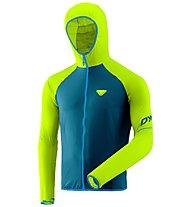 Dynafit Alpine Wind 2 - giacca antivento con cappuccio - uomo, Green/Blue