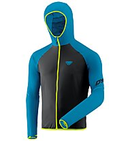 Dynafit Alpine Wind 2 - Windjacke mit Kapuze - Herren, Black/Blue/Yellow