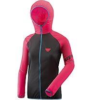 Dynafit Alpine Wind 2 - giacca antivento con cappuccio - donna, Pink/Black