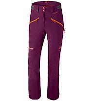 Dynafit Beast Hybrid - pantaloni sci alpinismo - donna, Purple/Orange