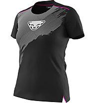 Dynafit DNA - Trailrunningshirt - Damen, Black/Grey/Pink