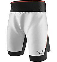 Dynafit DNA Ultra 2in1 - pantaloni corti trail running - uomo, White/Black/Red