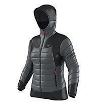 Dynafit Free Down W  - giacca con cappuccio - donna, Dark Grey/Black