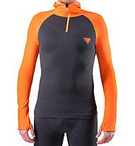 Dynafit FT Dryarn Warm - Langarmshirt mit Kapuze - Herren, Orange/Grey
