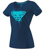 Dynafit Graphic - T-Shirt sport di montagna - donna, Blue/Light Blue
