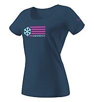Dynafit Graphic - T-Shirt sport di montagna - donna, Navy/Light Blue/Pink
